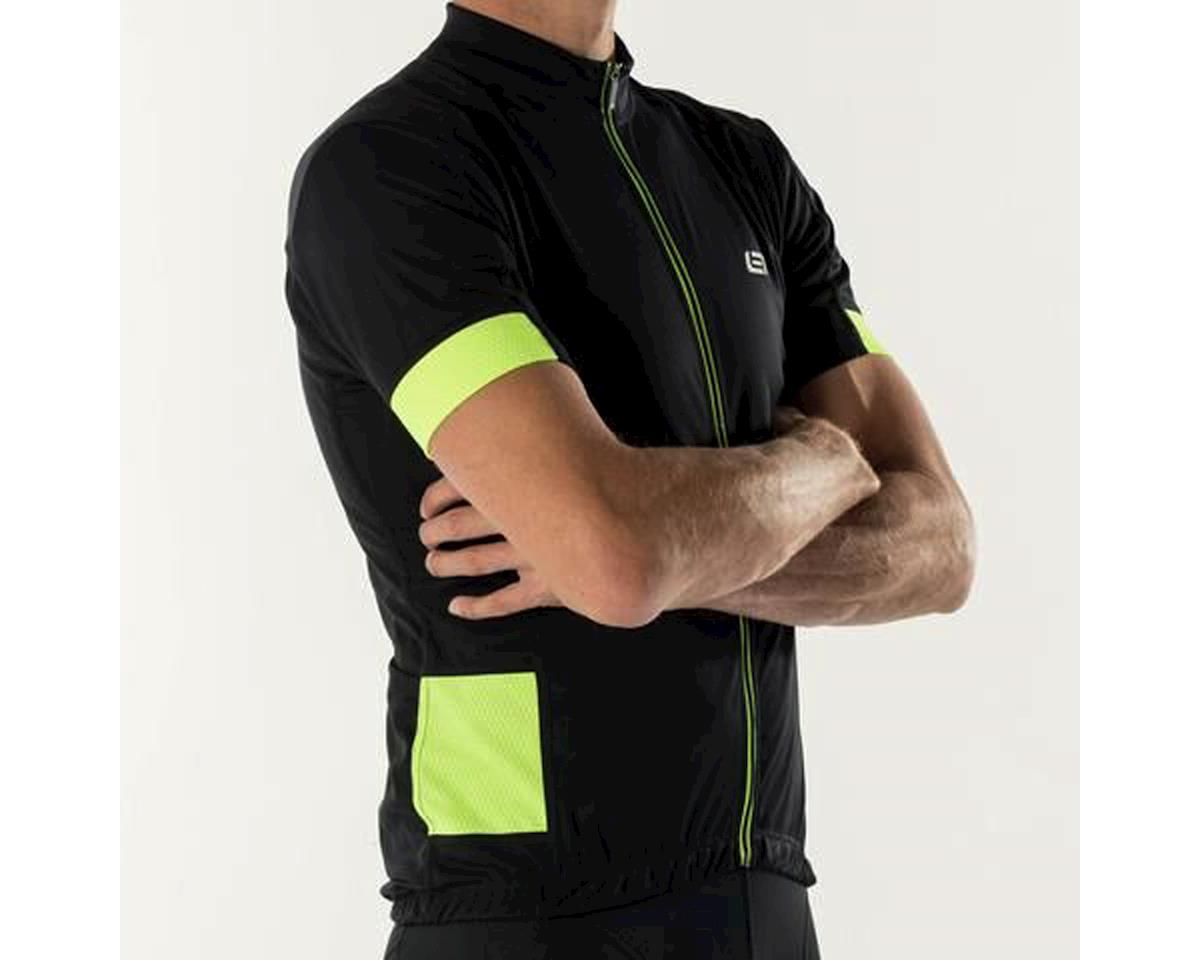 Bellwether Distance Cycling Jersey (Black/High Vis) (L)