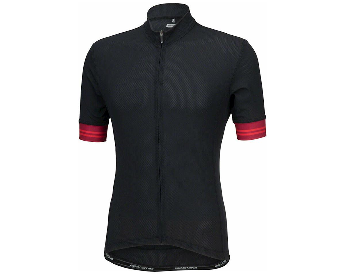 Bellwether Flight Short Sleeve Cycling Jersey (Black/Red) (2XL)