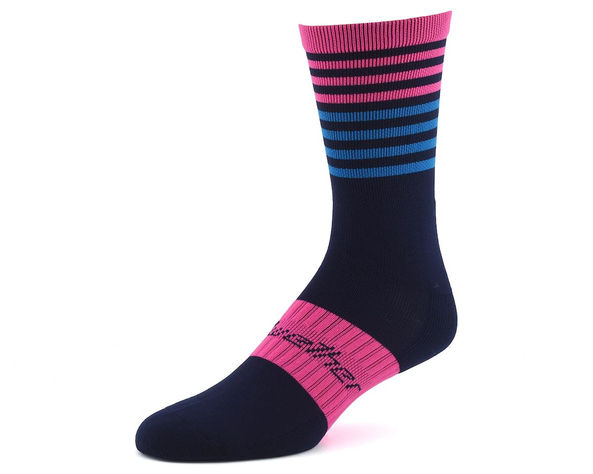 Bellwether Fusion Sock (Navy/Pink/Cyan)