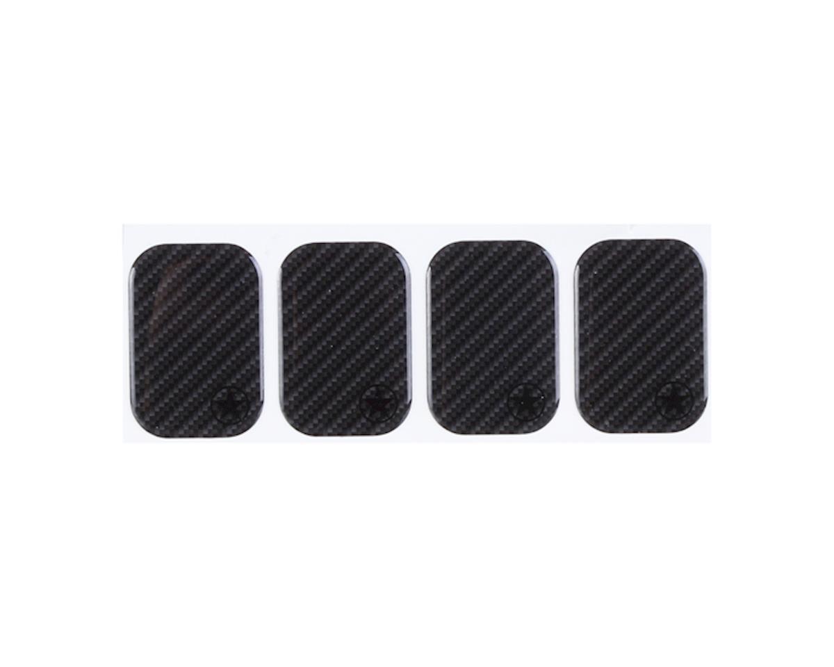 Bike Armor Frame Shield Cable Rub Frame Protectors (Carbon) (4)