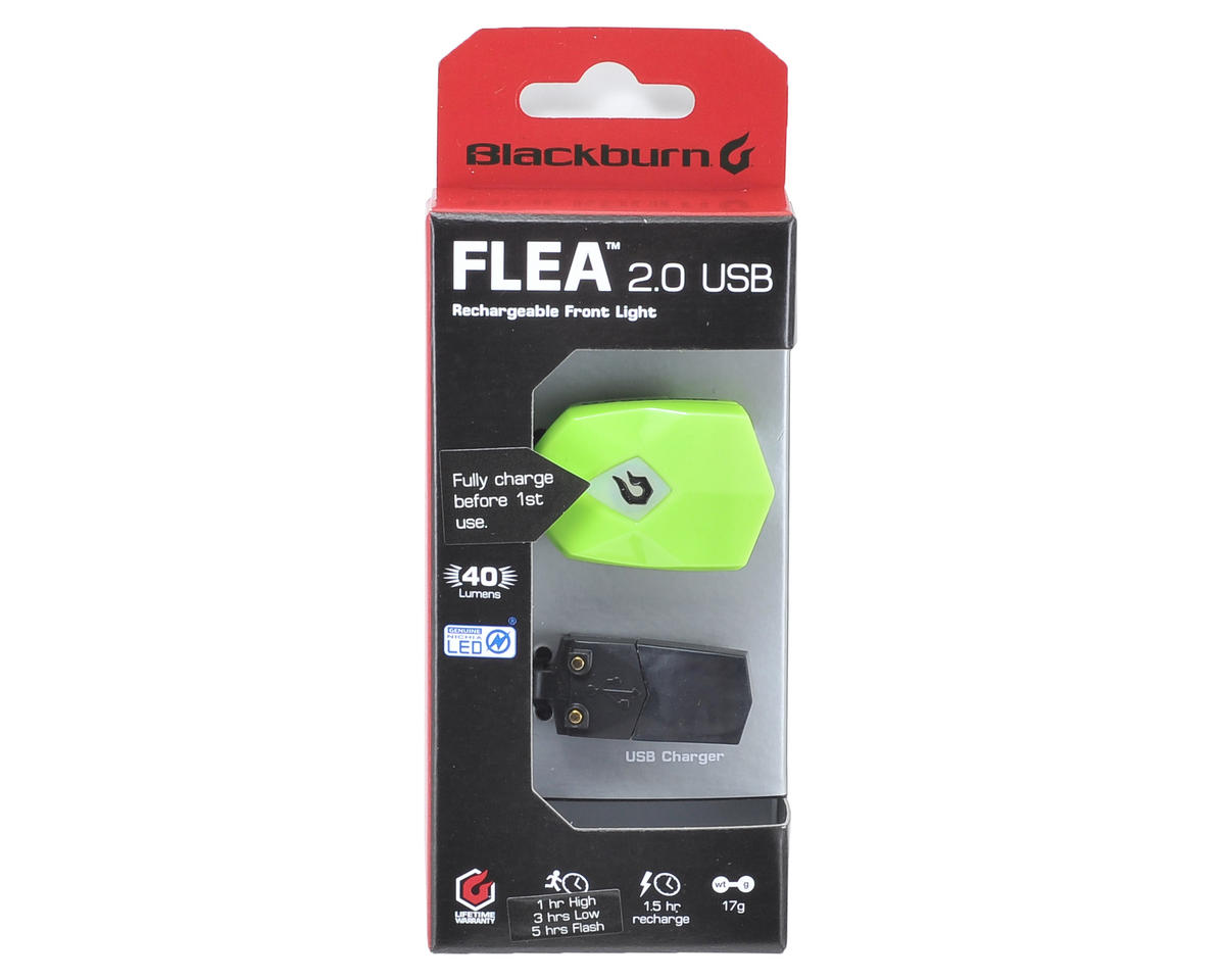 Blackburn Flea 2.0 USB Bike Headlight (Green)