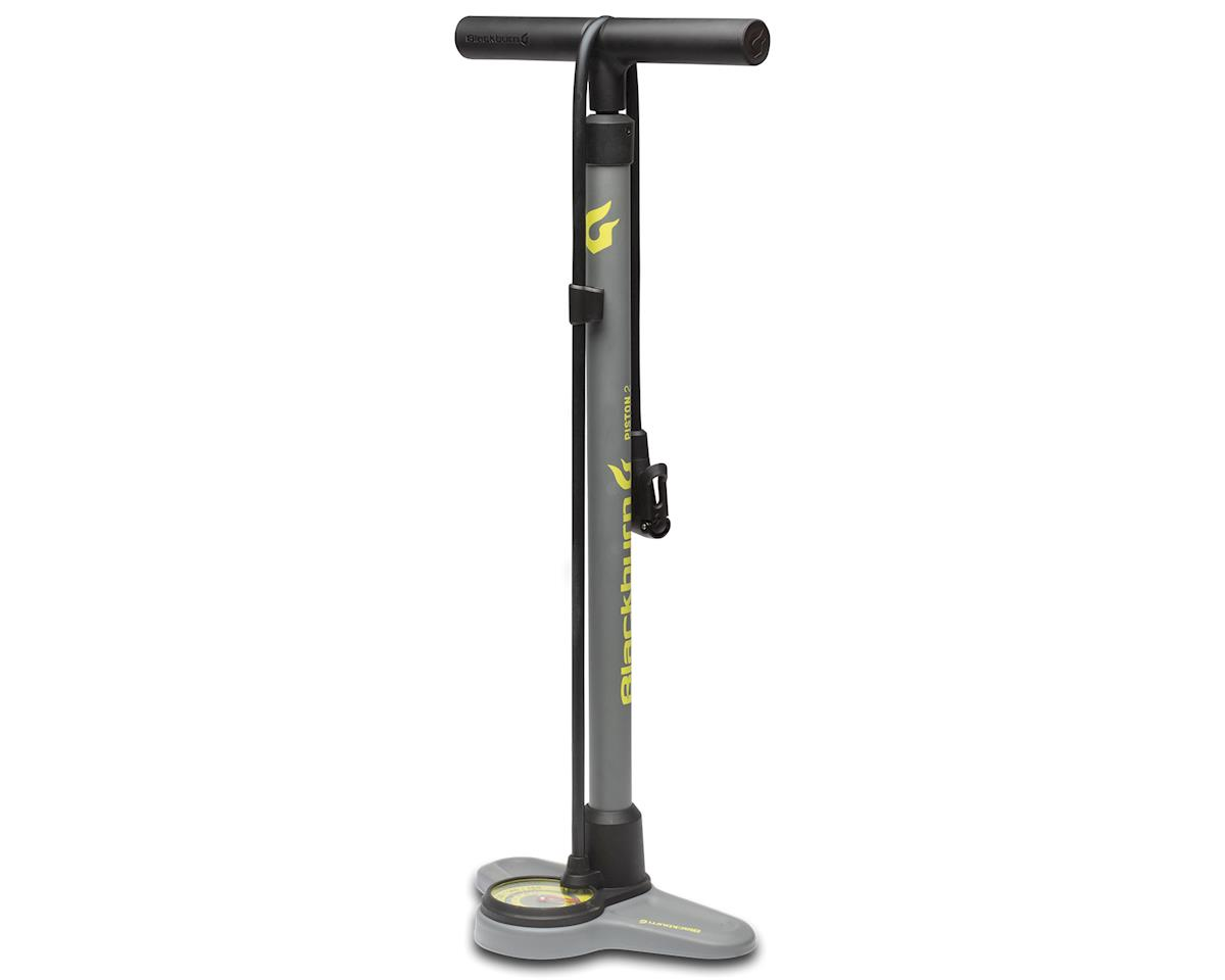 Blackburn Piston 2 Floor Pump (Grey/Hi Viz Yellow)