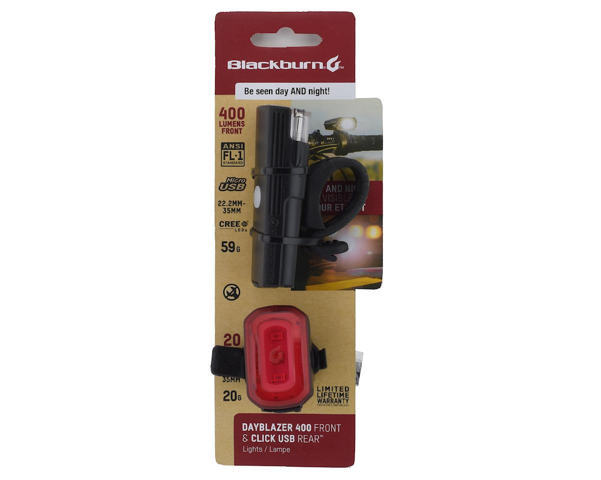 Image 3 for Blackburn Dayblazer 400 (Front) and Click USB (Rear) Light Set