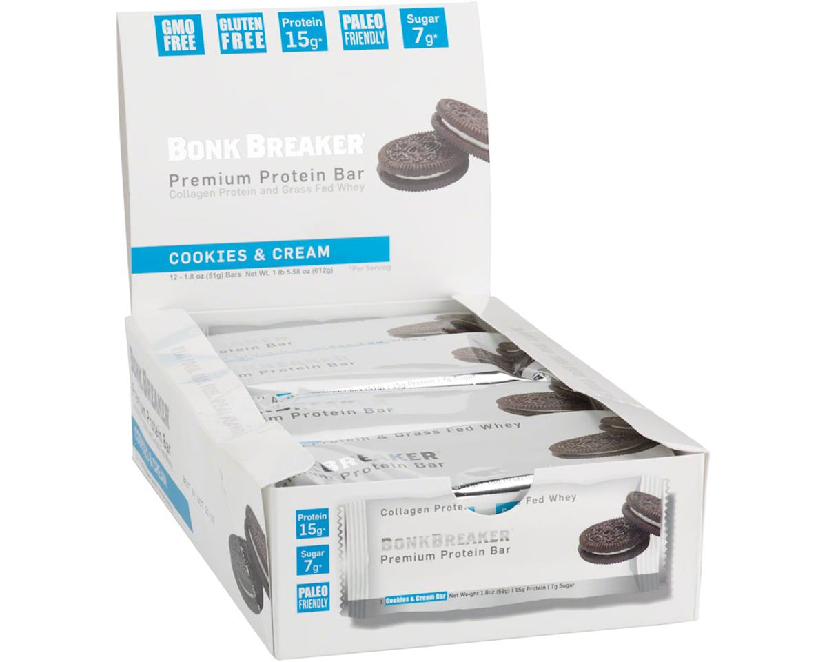 Premium Protein Bar, Cookies and Cream (12/box)