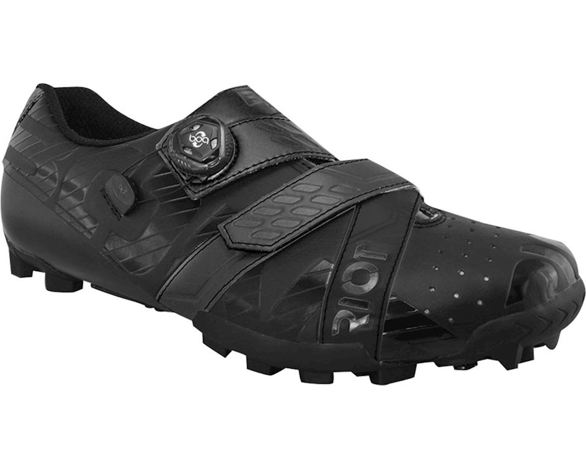 BONT Riot MTB+ BOA Cycling Shoe: Euro Wide 45 Black