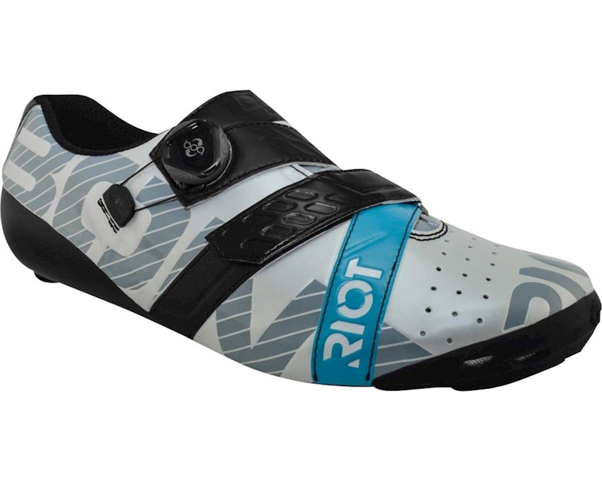 Bont Riot Road Cycling Shoe (Pearl White/Black) (40.5)