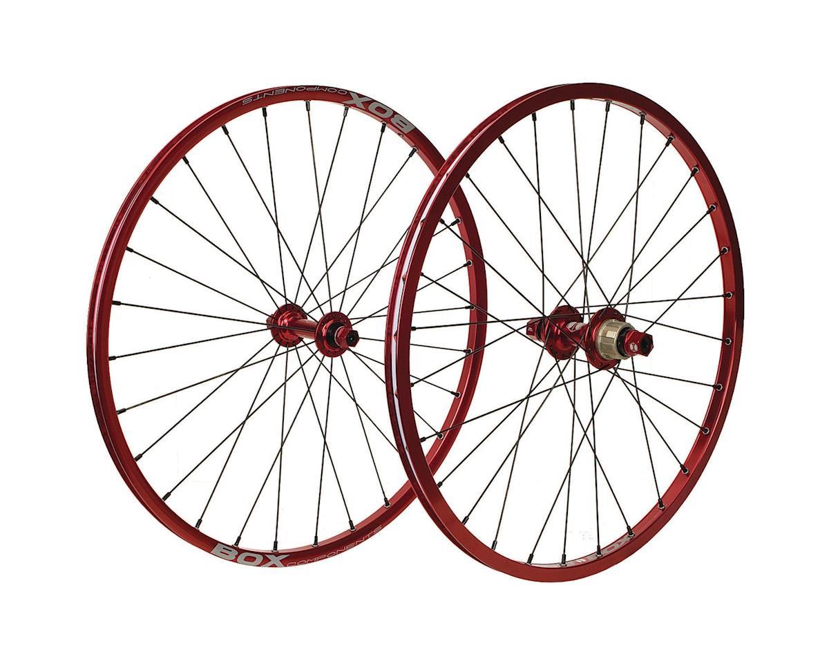 "Box Mini Cassette Wheels (Red) (28 Hole) (20 x 1-1/8"")"