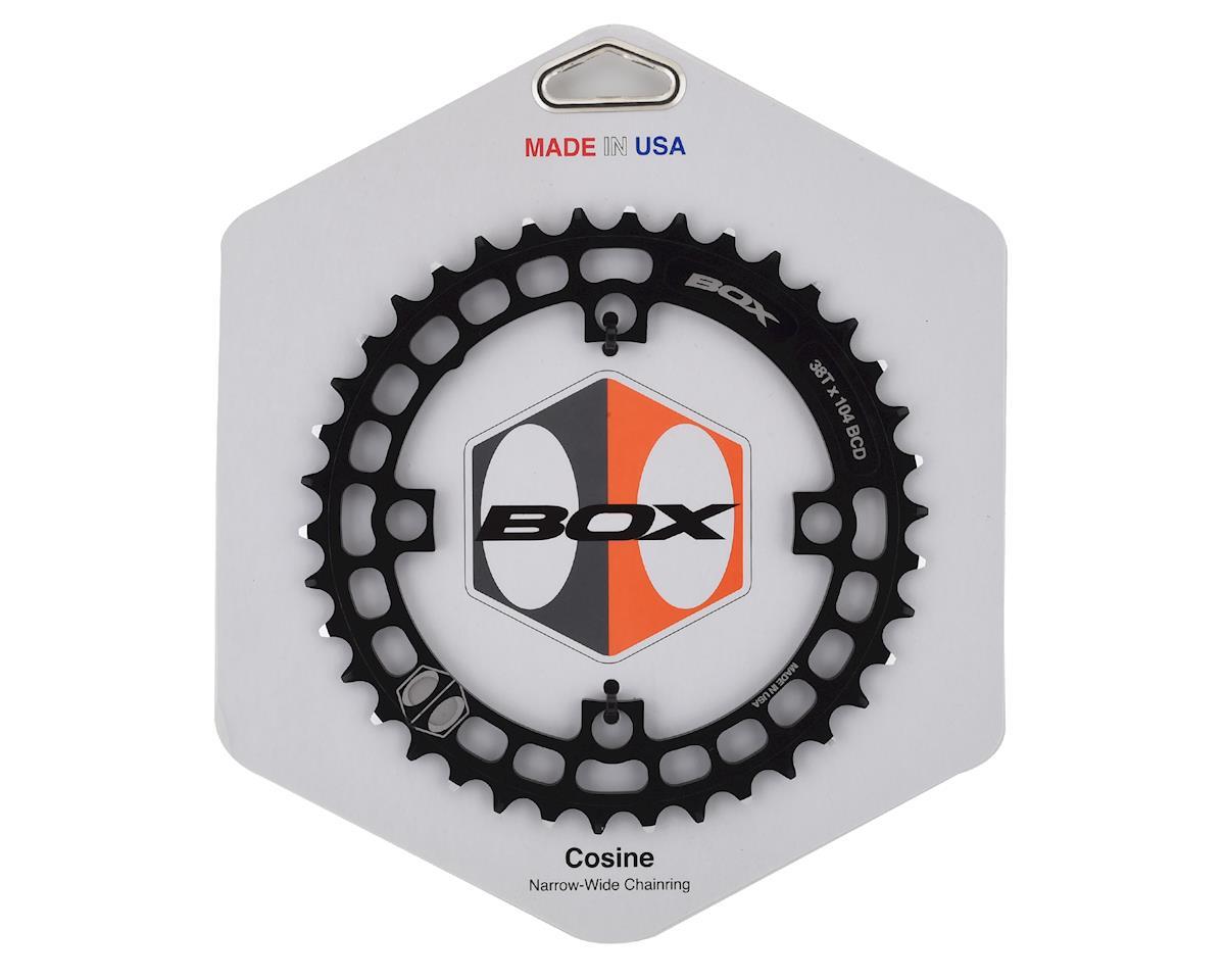 Box Narrow-Wide Cosine Chain Ring 7075 Alloy (Black) (38T)