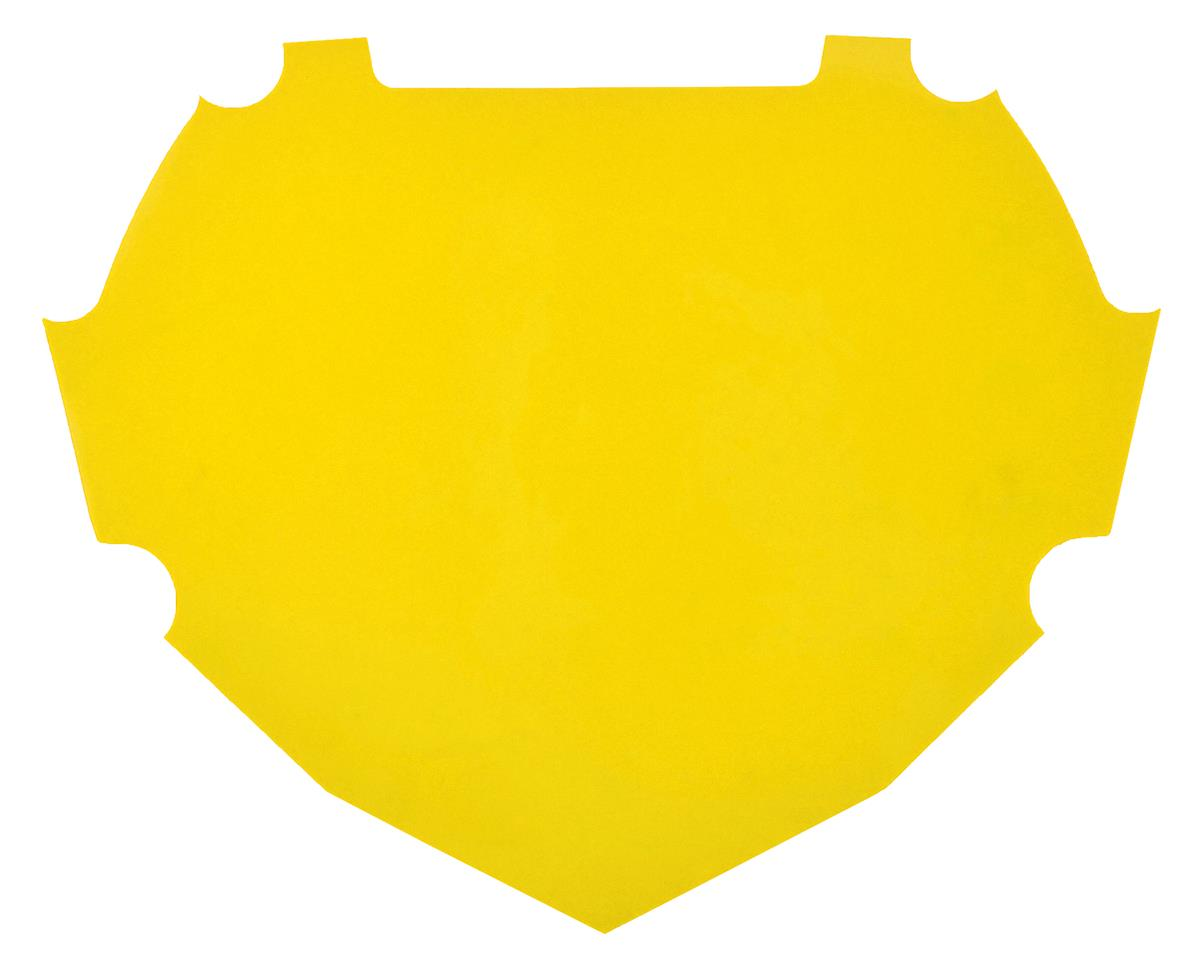 Box Number Plate Decal (Yellow) (L)