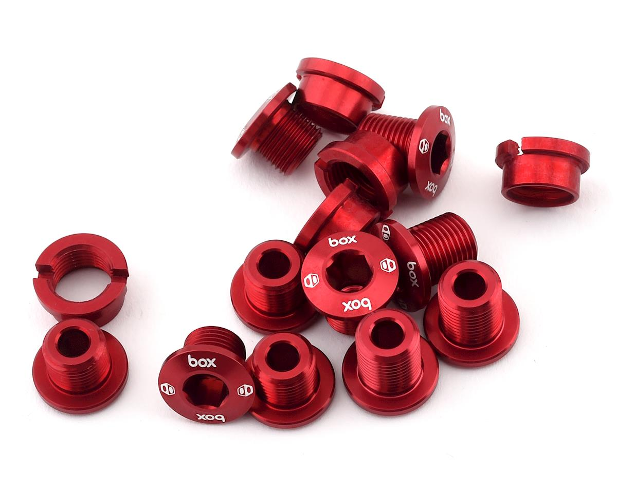 Box Components Spiral 7075 Alloy Chainring Bolt Kit (Red) (15)