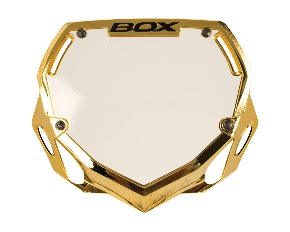 Box Two Number Plate (Gold/Chrome) (L)