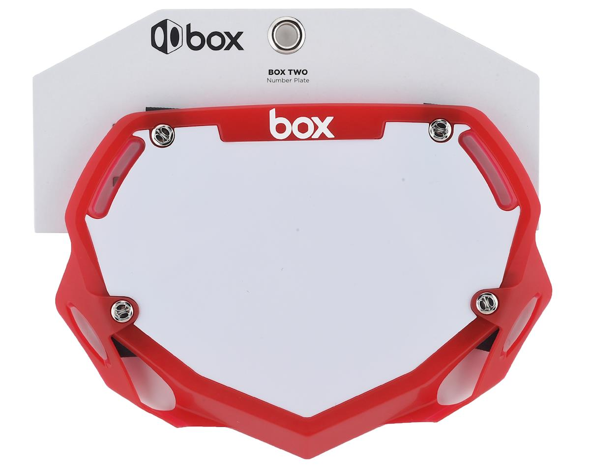 Box Two Number Plate (Translucent Red) (S)