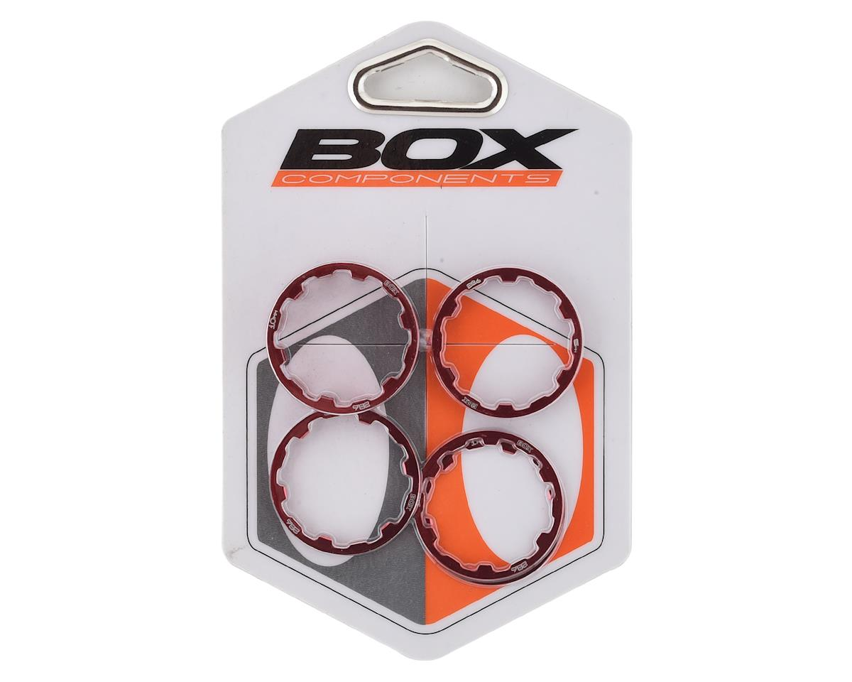 """Promax 1/"""" Stem Spacer Kit 10-5-3-1mm Spacers Red"""