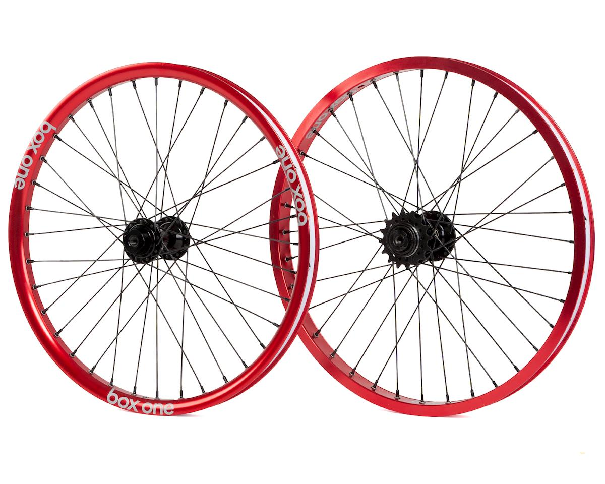 Box Three BMX wheelset (20 x 1.75) (Red)