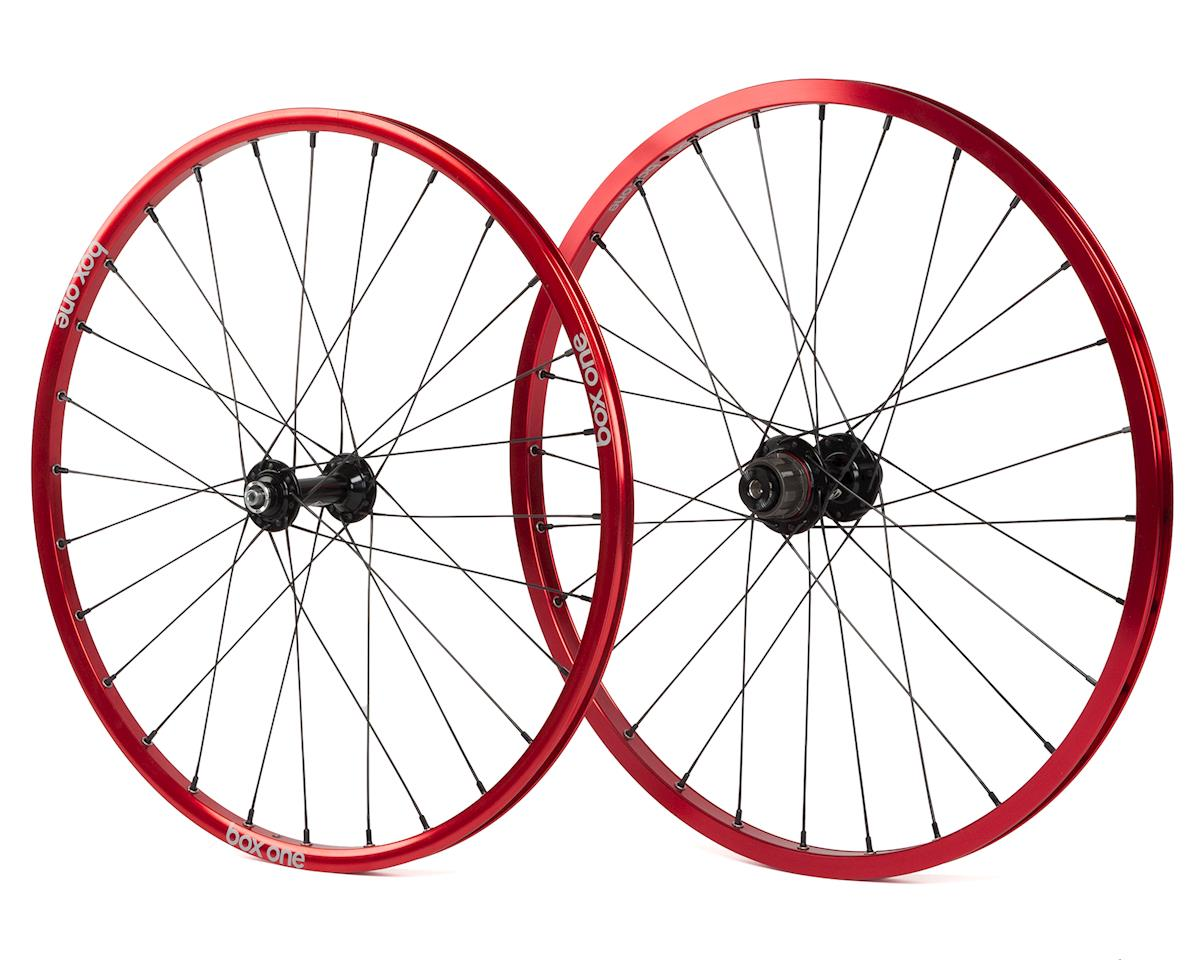 Box Three BMX wheelset (20 x 1-1/8) (Red)