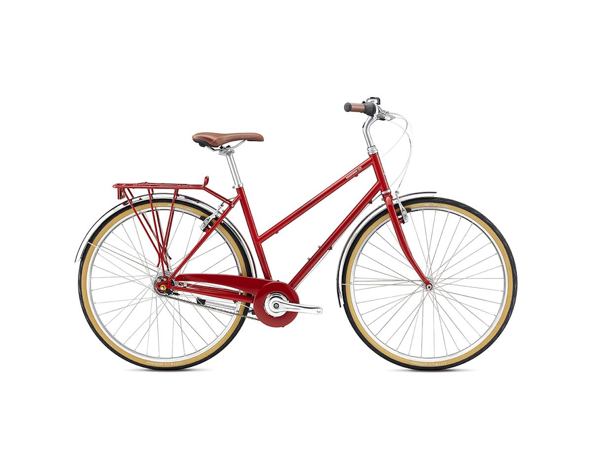 Breezer Downtown 8 ST Women's City Bike -- 2017 (Red) (54)