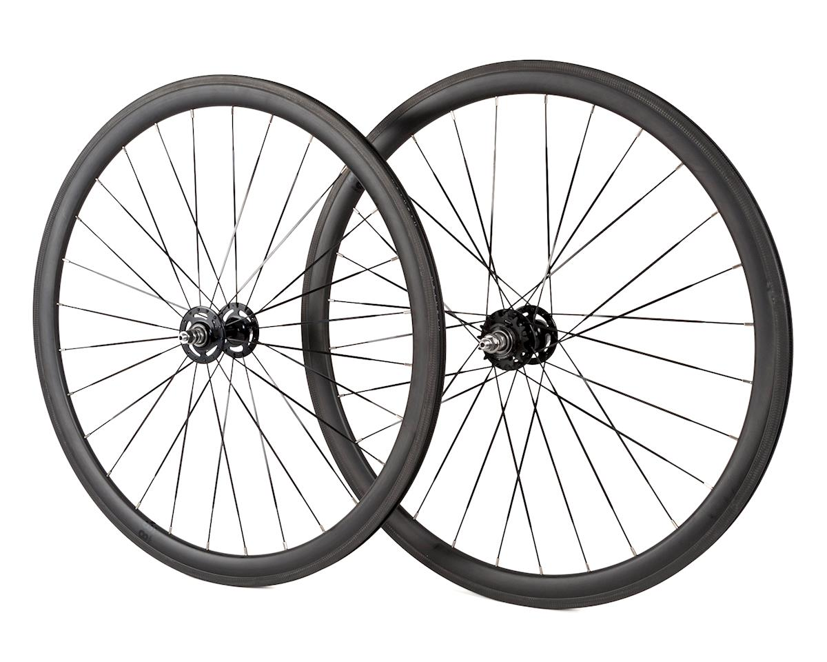 Brick Lane Bikes Notorious Carbon Track Wheelset (38mm) (28h)