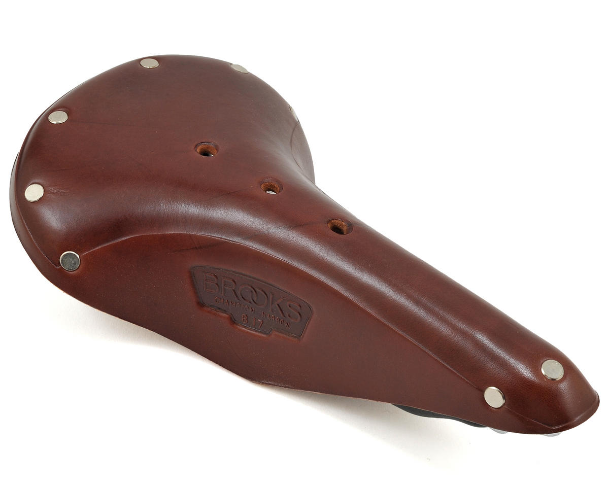 Brooks B17 Narrow (Antique Brown) (Black Rails)