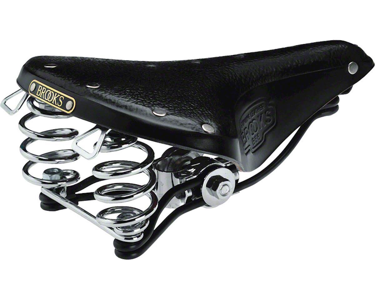 B66 Men's Saddle Black with chrome rails