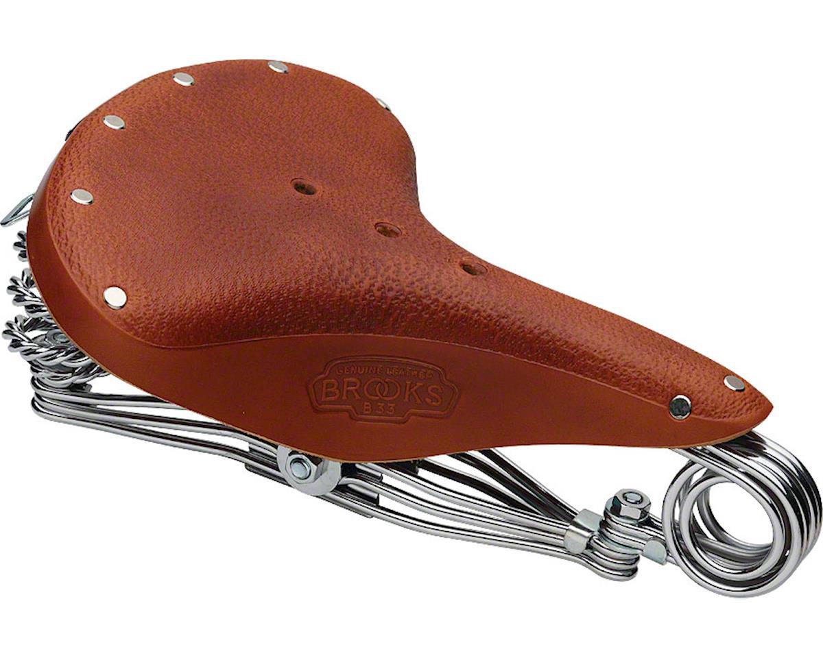 Brooks B33 Triple Rail Saddle w/ Clamp (Honey/Chrome)