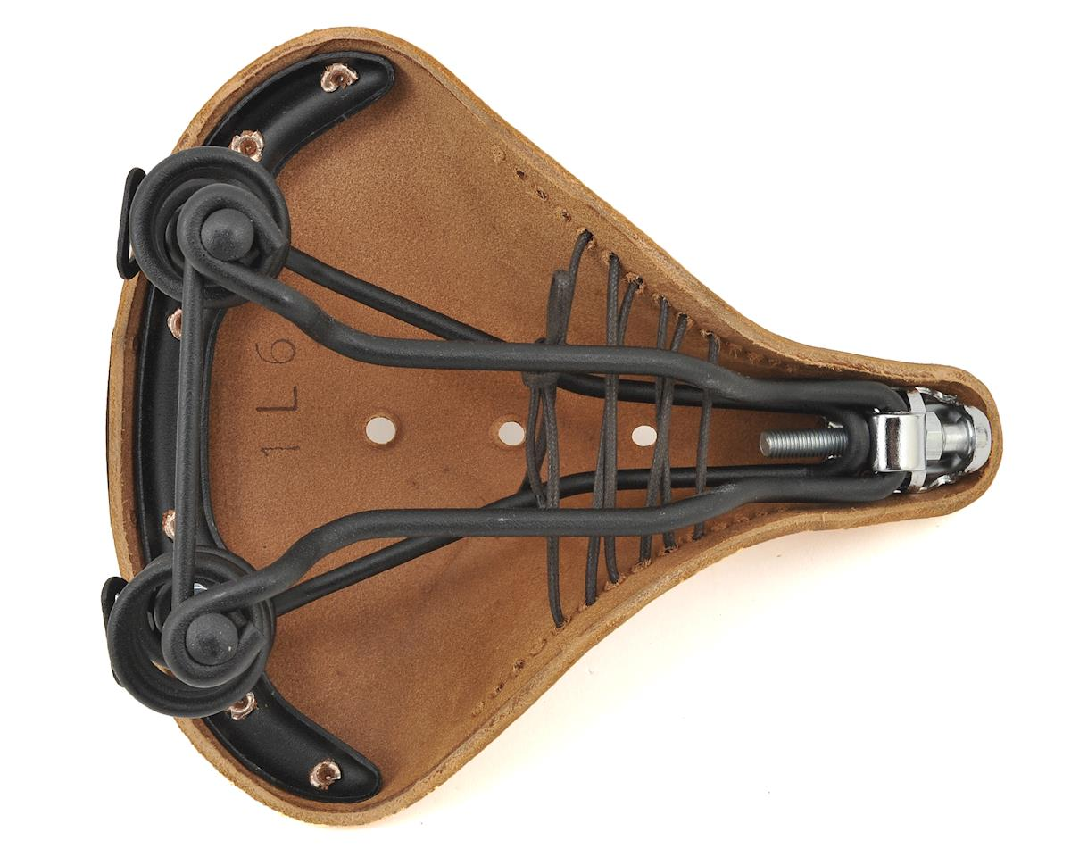 Brooks B67 S Women's Spring Saddle (Pre-Aged Dark Tan with Laces/Black Steel)