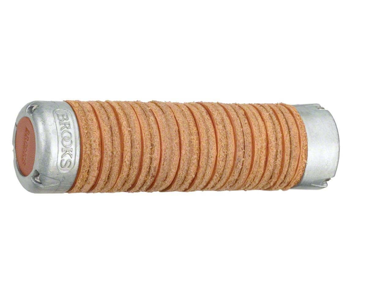 Brooks Adjustable Length Leather Ring Grips (Honey)