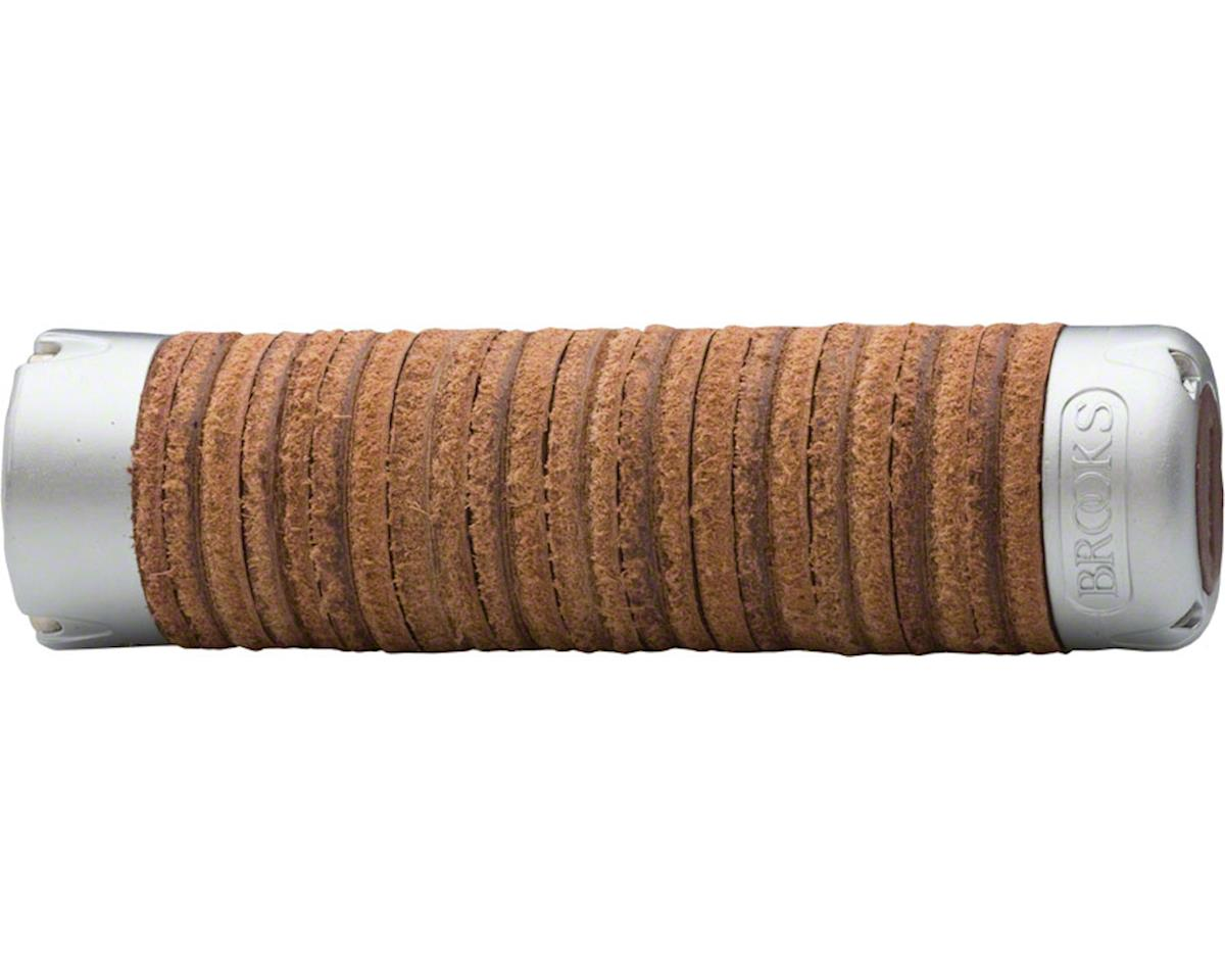 Brooks Adjustable Length Leather Ring Grips (Brown)