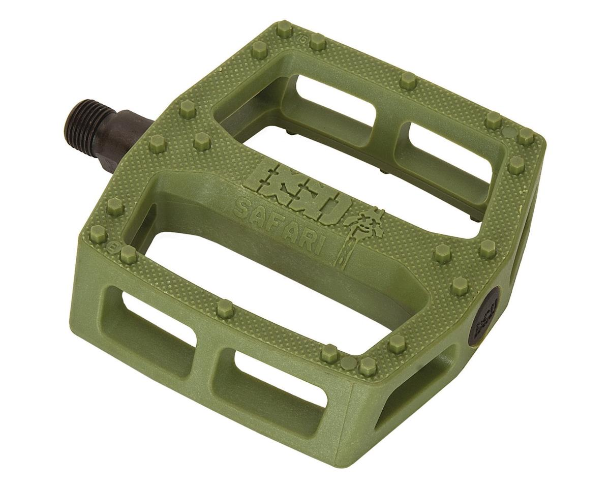 "BSD Safari Pedals - Platform, Composite/Plastic, 9/16"", Surplus Green"