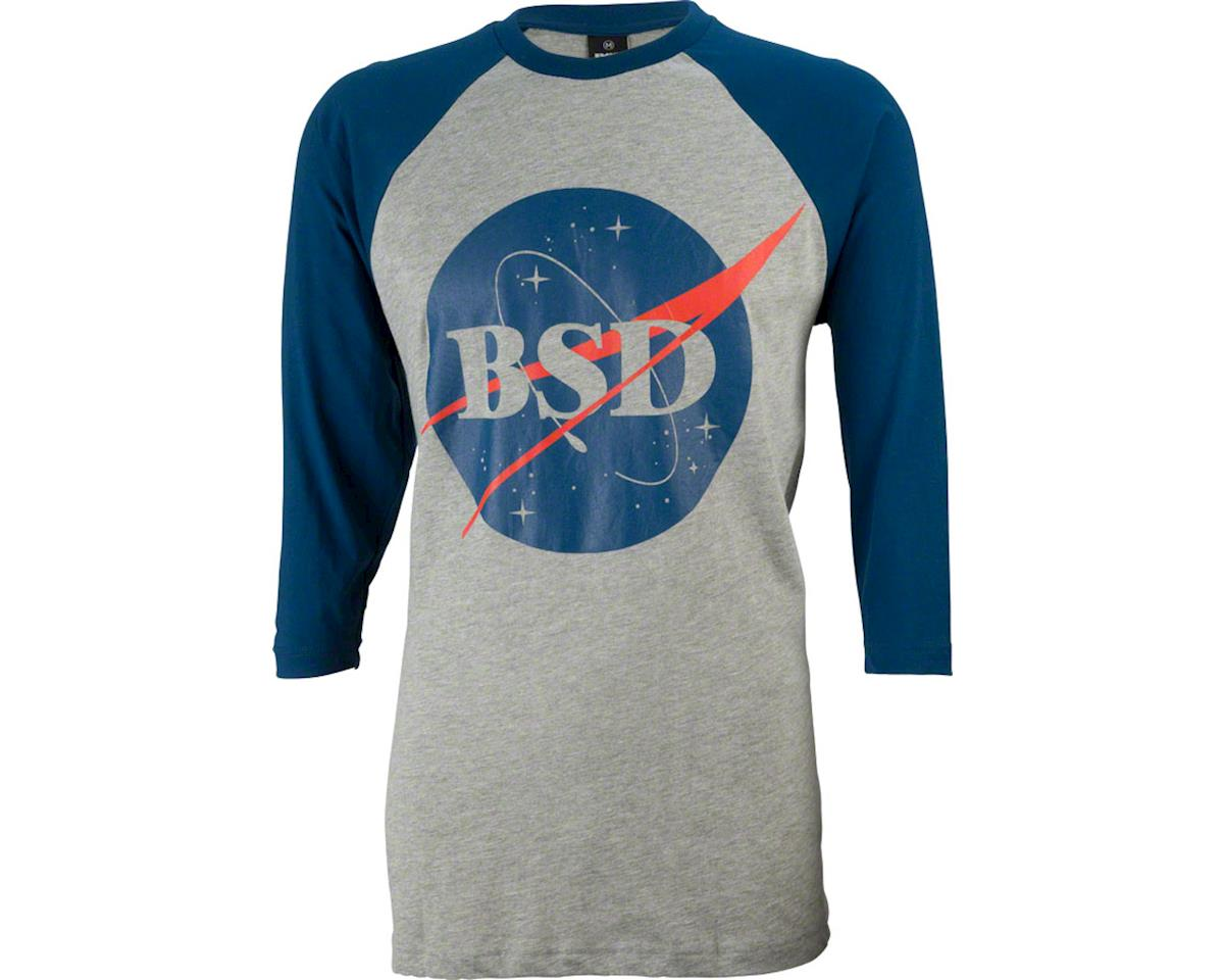 BSD Space Agency BaseBall T-Shirt: Navy/Gray, LG