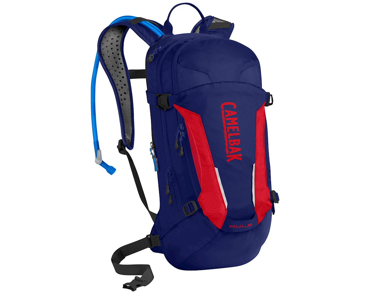 Camelbak M.U.L.E. Hydration Pack (100oz) (Pitch Blue/Racing Red)