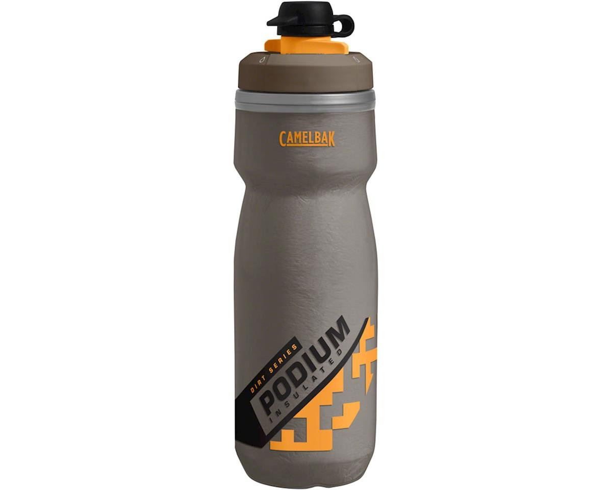 Camelbak Podium Chill Dirt Series Water Bottle (Shadow Grey/Sulphur) (21oz)