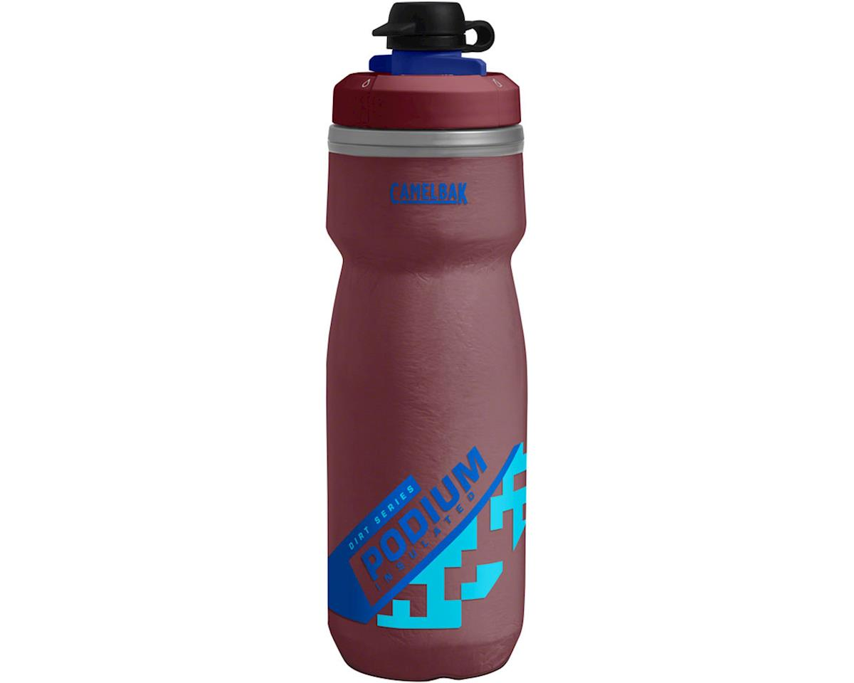 Camelbak Podium Chill Dirt Series Water Bottle (Burgundy/Blue) (21oz)