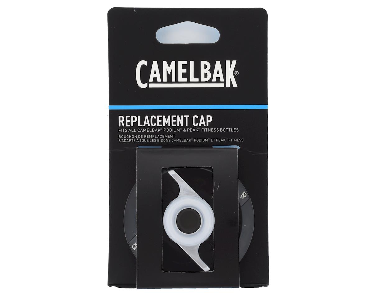 Image 2 for Camelbak Podium and Peak Fitness Water Bottle Replacement Cap (Black)