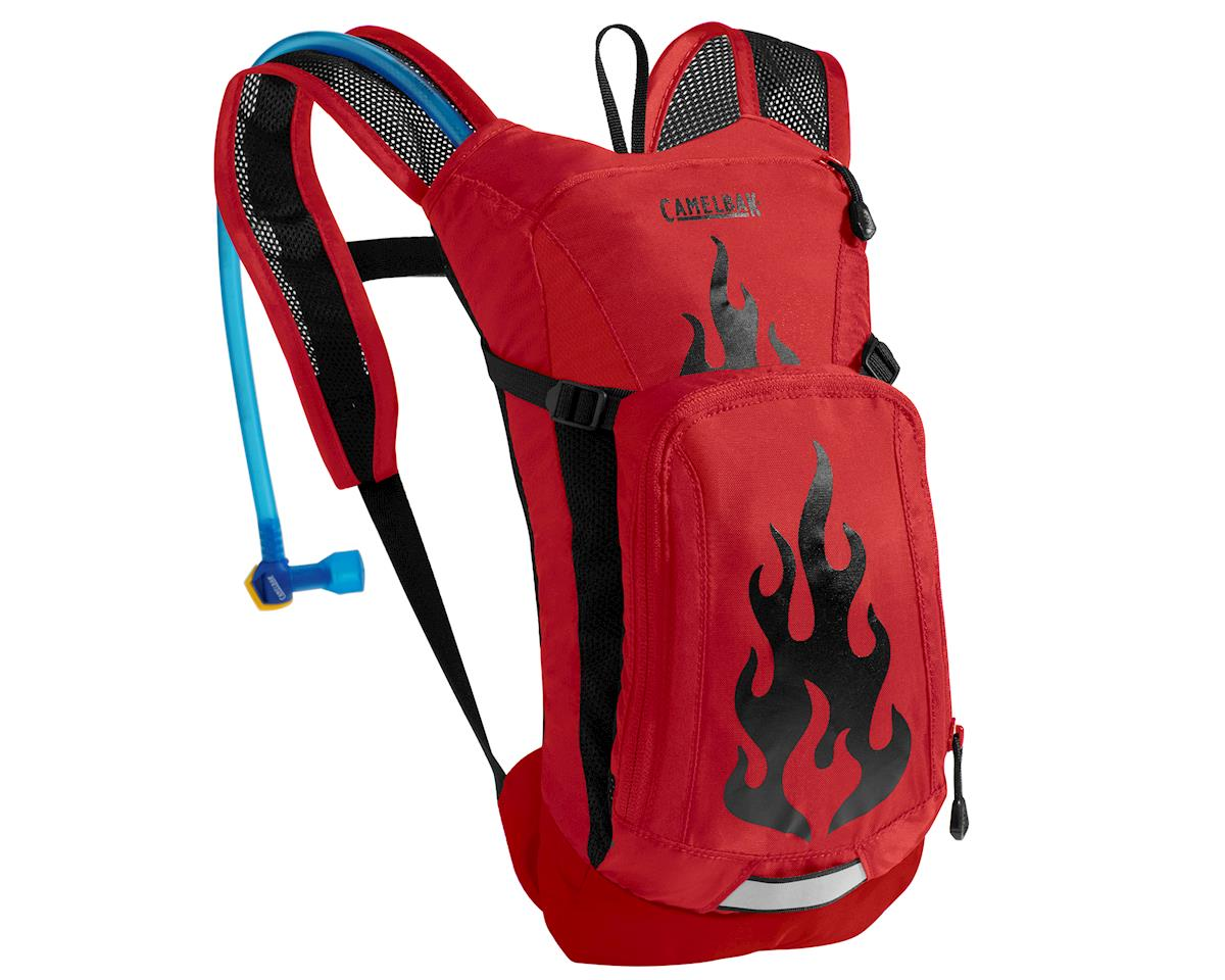 Camelbak Mini M.U.L.E. 50 oz Kid's Hydration Pack (Barbados Cherry Flames)