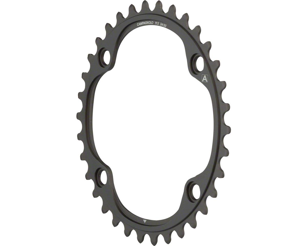 Campagnolo 11 Speed 34 Tooth Chainring and Bolt Set for 2015 and later Super Rec