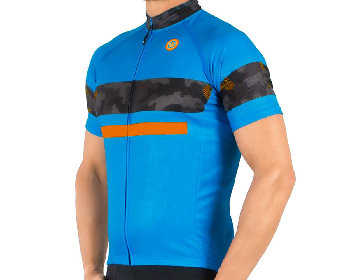 Canari Aero Pro Jersey (Blue/Camo Orange)