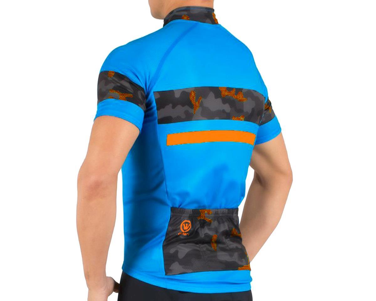 Canari Aero Pro Jersey (Blue/Camo Orange) (L)