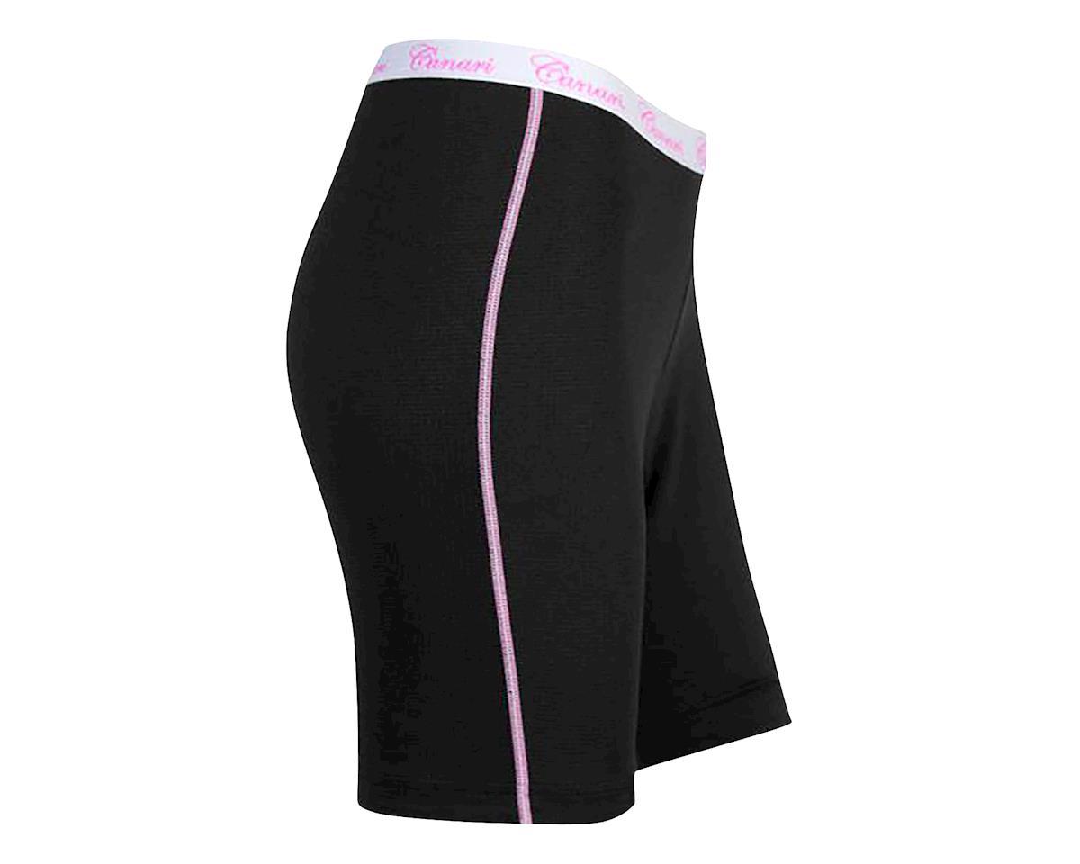 Canari Women's Gel Liner Cycling Shorts (Black/Pink) (L)
