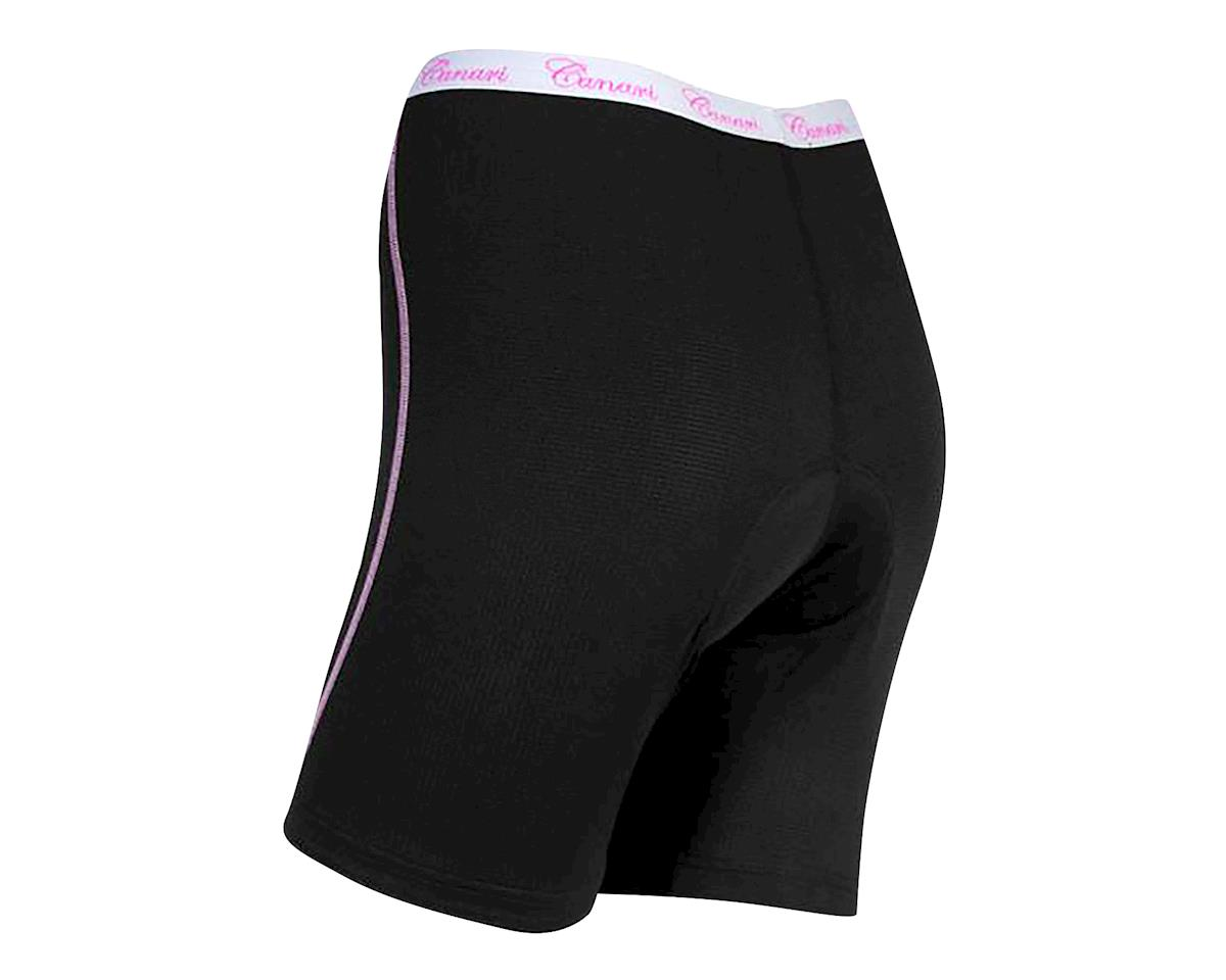 Image 2 for Canari Women's Gel Liner Cycling Shorts (Black/Pink) (L)