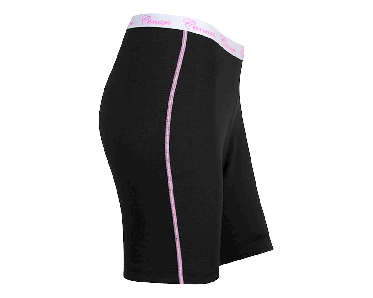 Canari Women's Gel Liner Cycling Shorts (Black/Pink) (M)