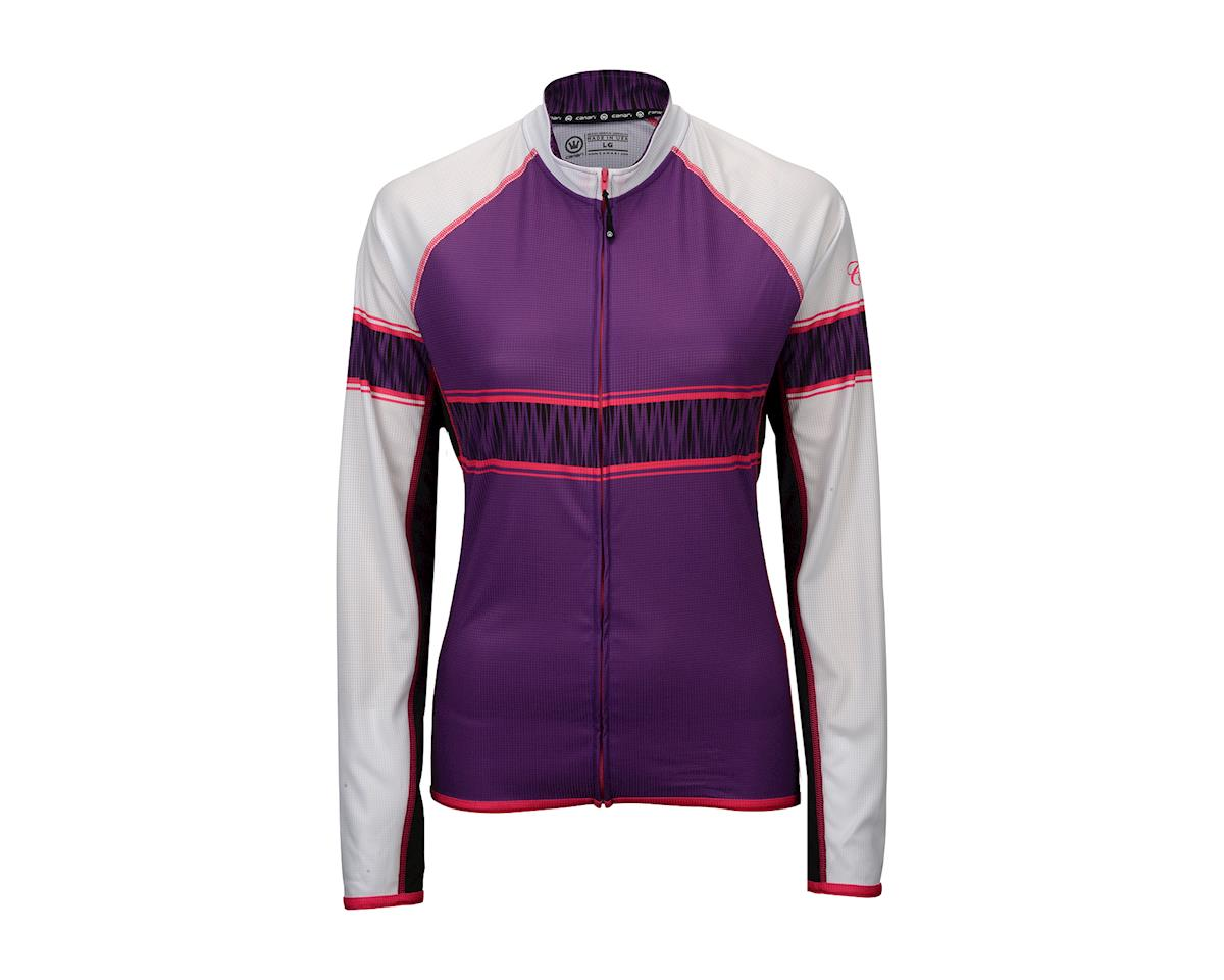 Image 2 for Canari Women's Stevie Long Sleeve Jersey (Imperial Purple)