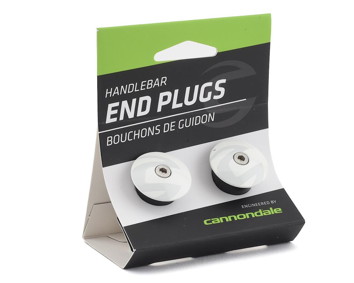 Cannondale 2018 Handlebar End Plug (Alloy) (White)