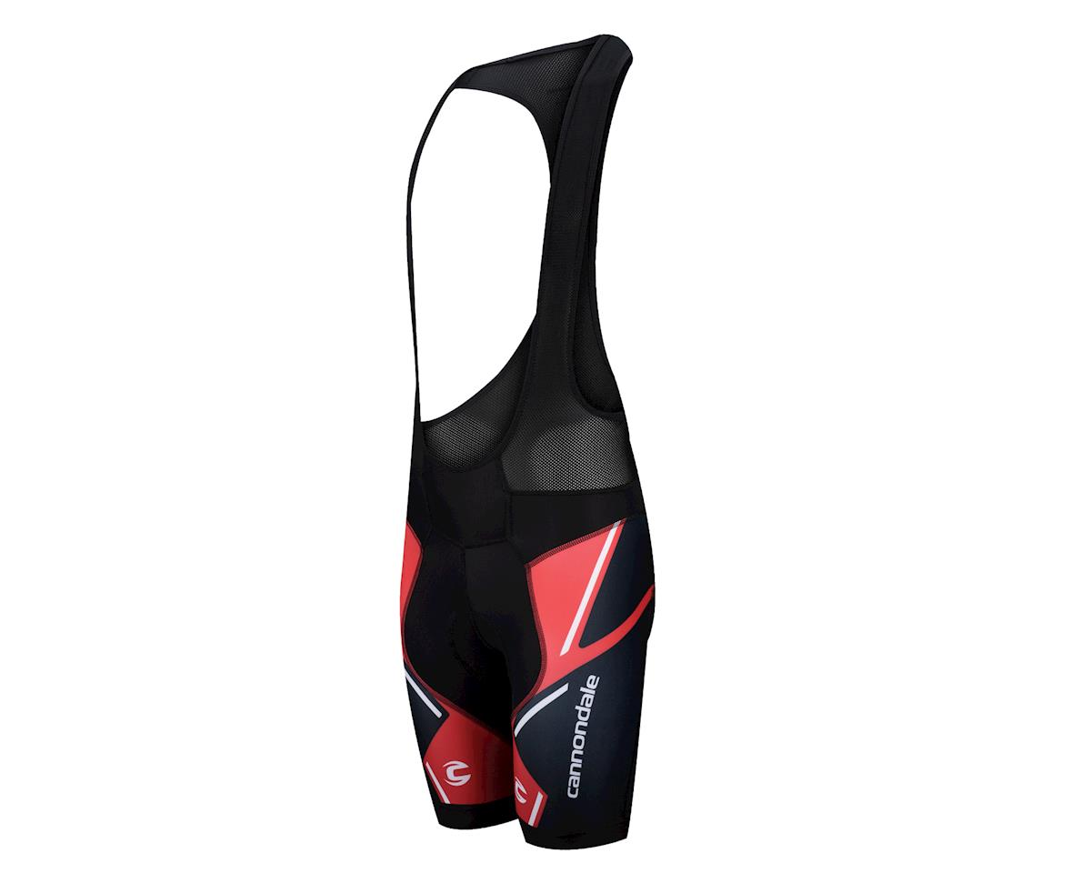 Image 1 for Cannondale Performance 2 Printed Bib Shorts (Black/Racing Red) (X-Large 36-39)