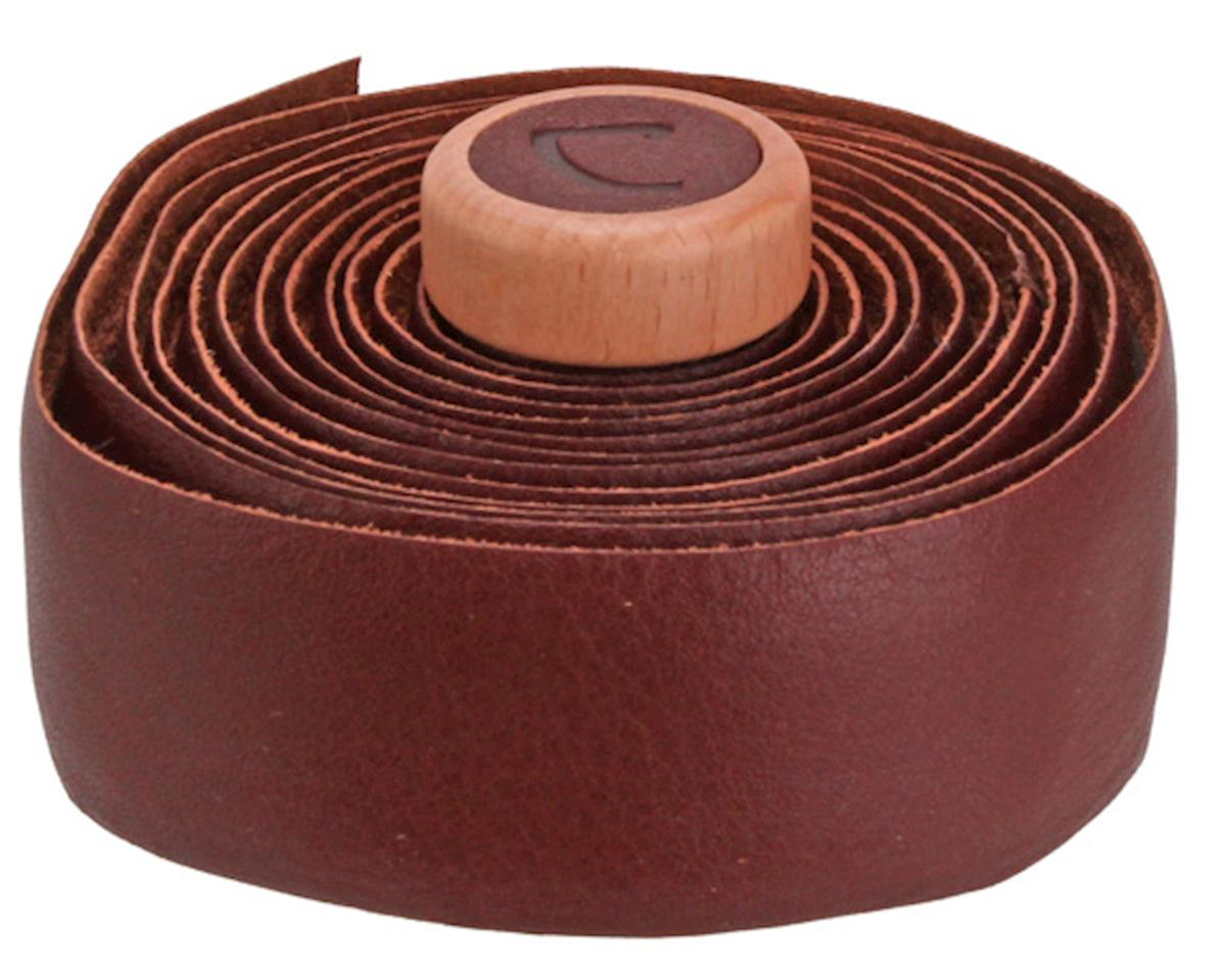 Cardiff Genuine Leather Handlebar Tape (Brown)
