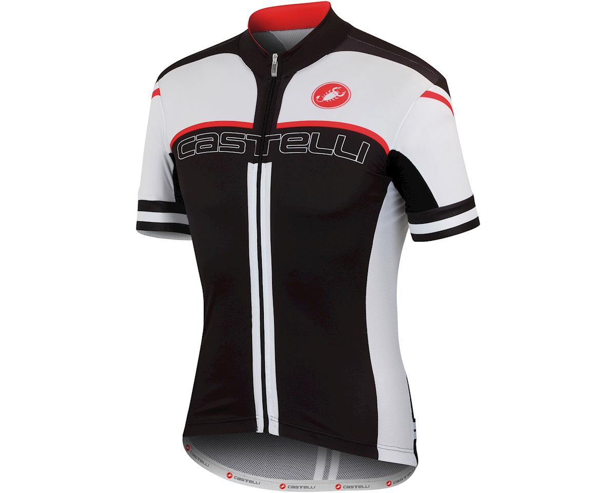 Castelli Free Aero Race 4.0 Short Sleeve Jersey (Black/White)
