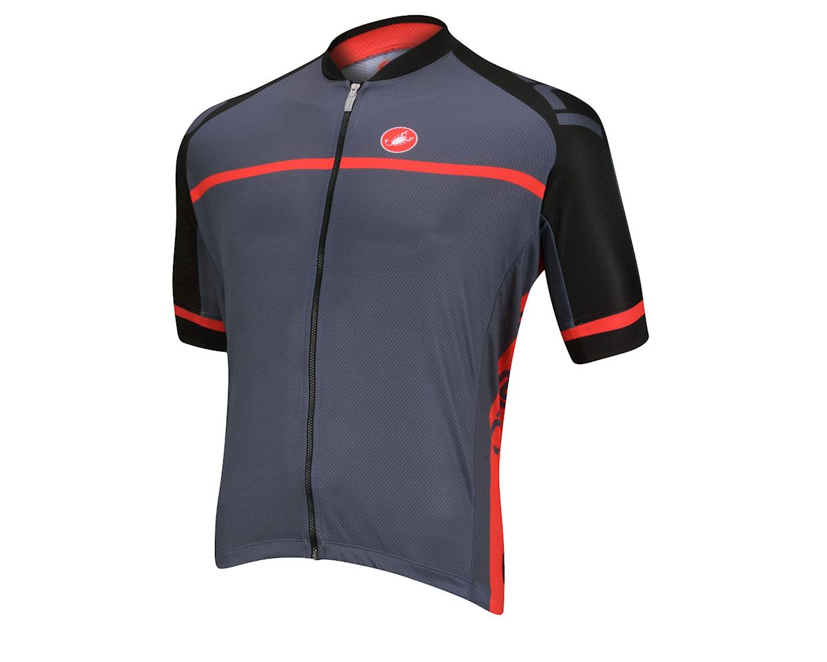 Castelli Volo FZ Short Sleeve Jersey (Black/Red)