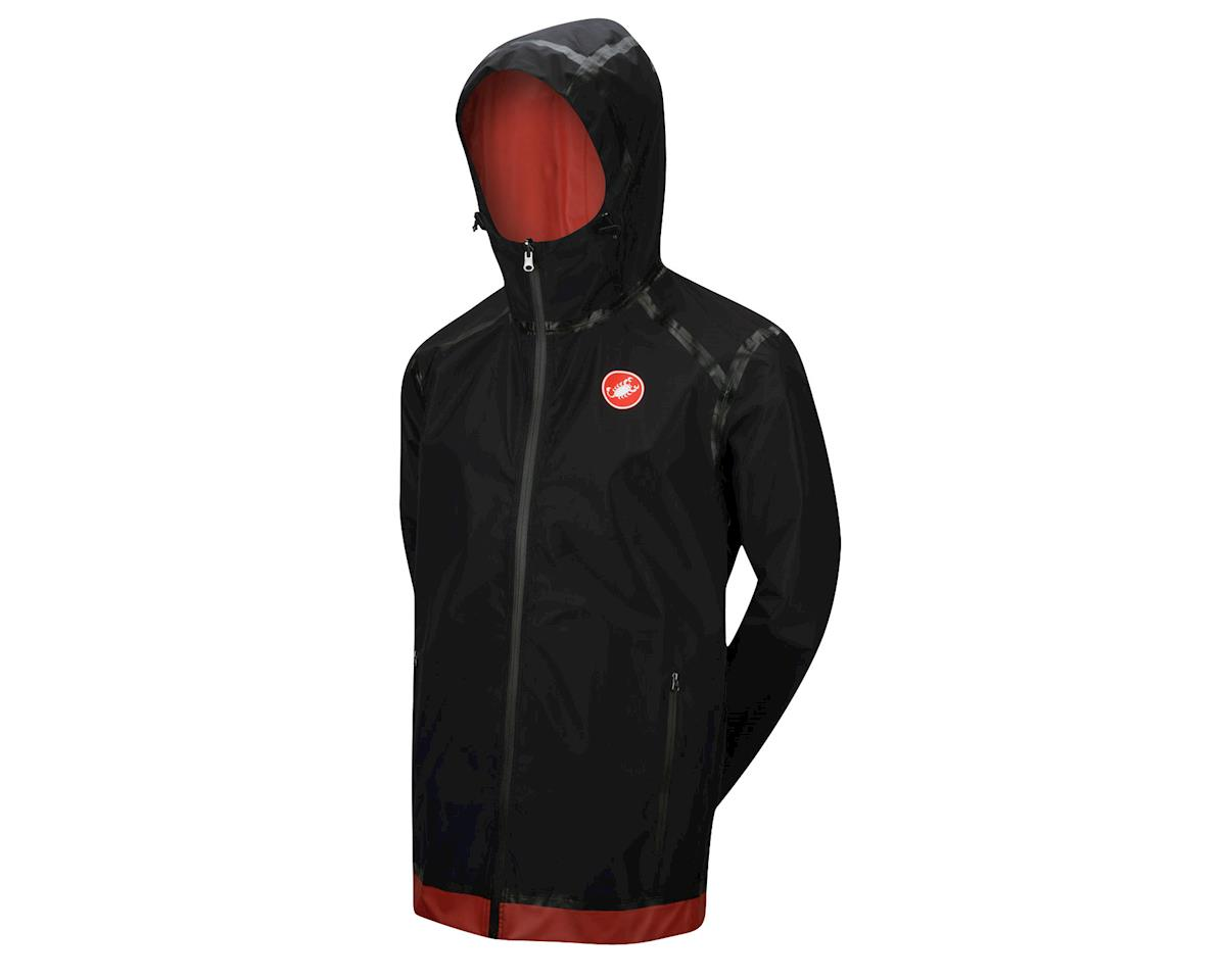 Castelli Meccanico Rain Jacket (Red/Black) (Xsmall)