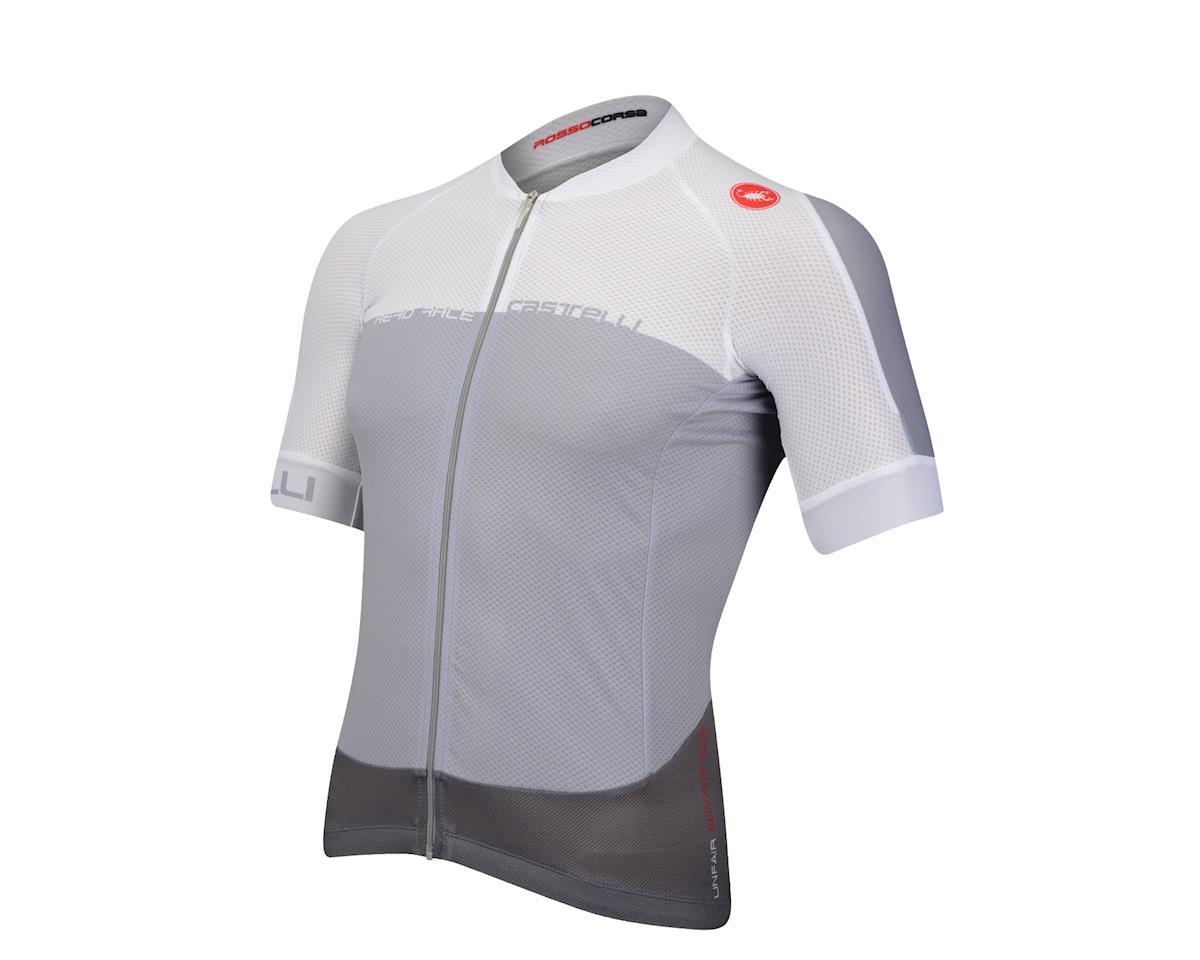 Castelli Aero Race 5.1 FZ Short Sleeve Jersey (Grey)