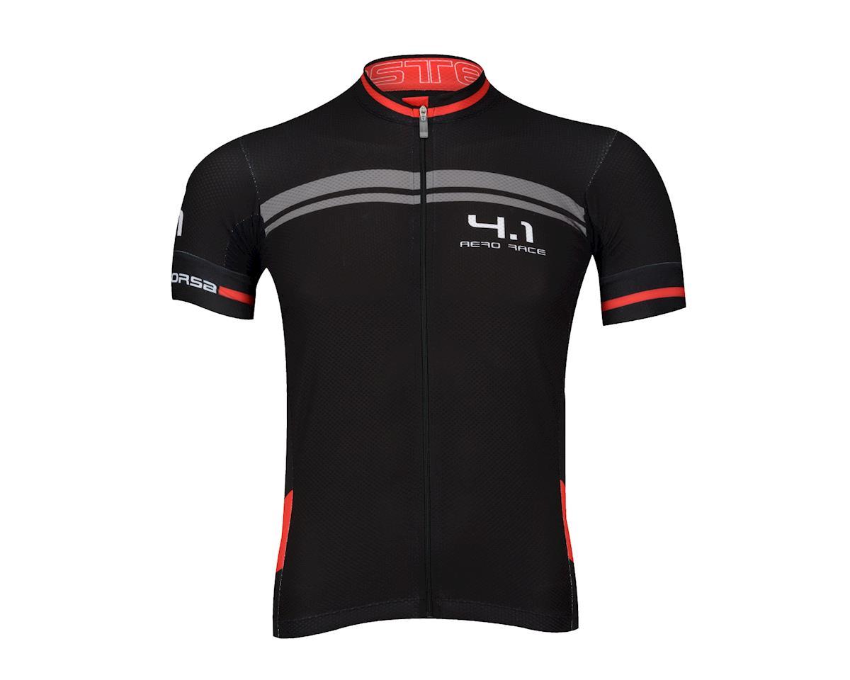 Castelli Free AR 4.1 FZ Short Sleeve Jersey (Black/Red)