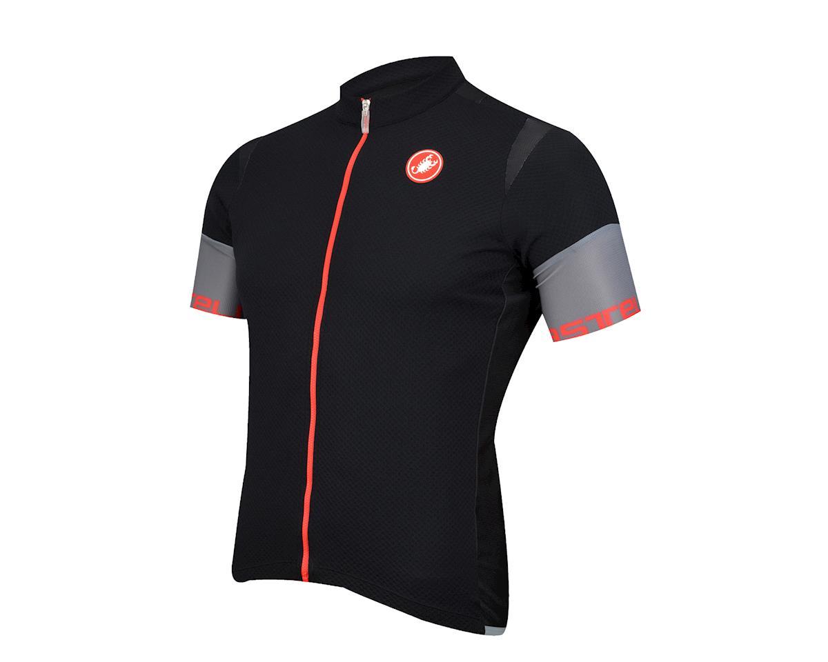 0231f0d8c Castelli Entrata 2 FZ Short Sleeve Jersey (Black Red)  11-3572-B R-P ...